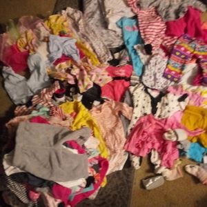 A whole lotta baby girl clothes